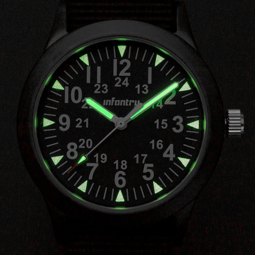 clock luminous picture more detailed picture about infantry mens infantry mens watches tactical army luminous watches durable g10 nylon strap hattori ese quartz watches relojes