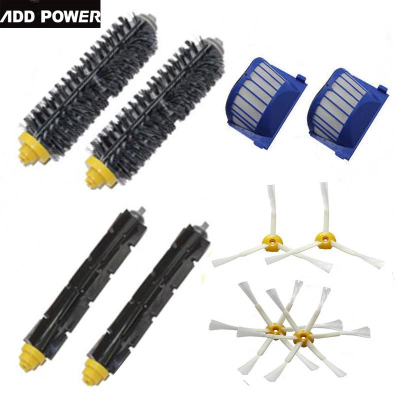High Quality 2 Bristle & Flexible Beater &4 Armed Brush & 2 Aero Vac Filterfor iRobot Roomba 600 Series 620 630 650 660(China (Mainland))