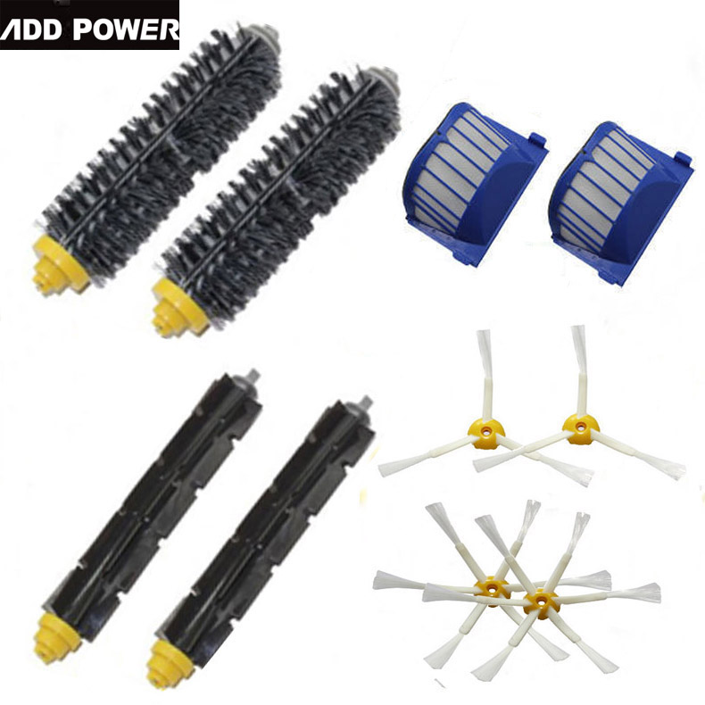 New 2 Bristle & Flexible Beater &4 Armed Brush & 2 Aero Vac Filterfor iRobot Roomba 600 Series 620 630 650 660(China (Mainland))