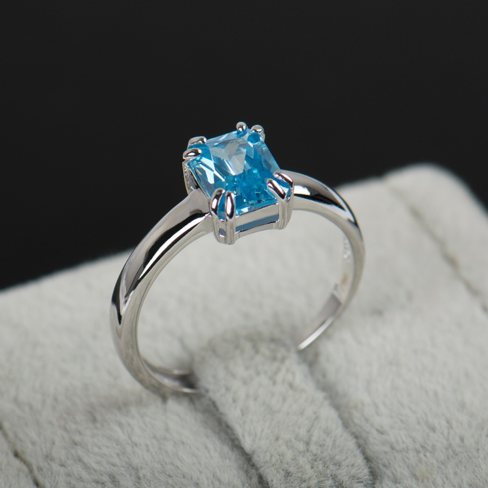 2017 New Arrival adjustable ring Fashion 925 sterling silver ring high quality natural Zircon rings for women with free gift box