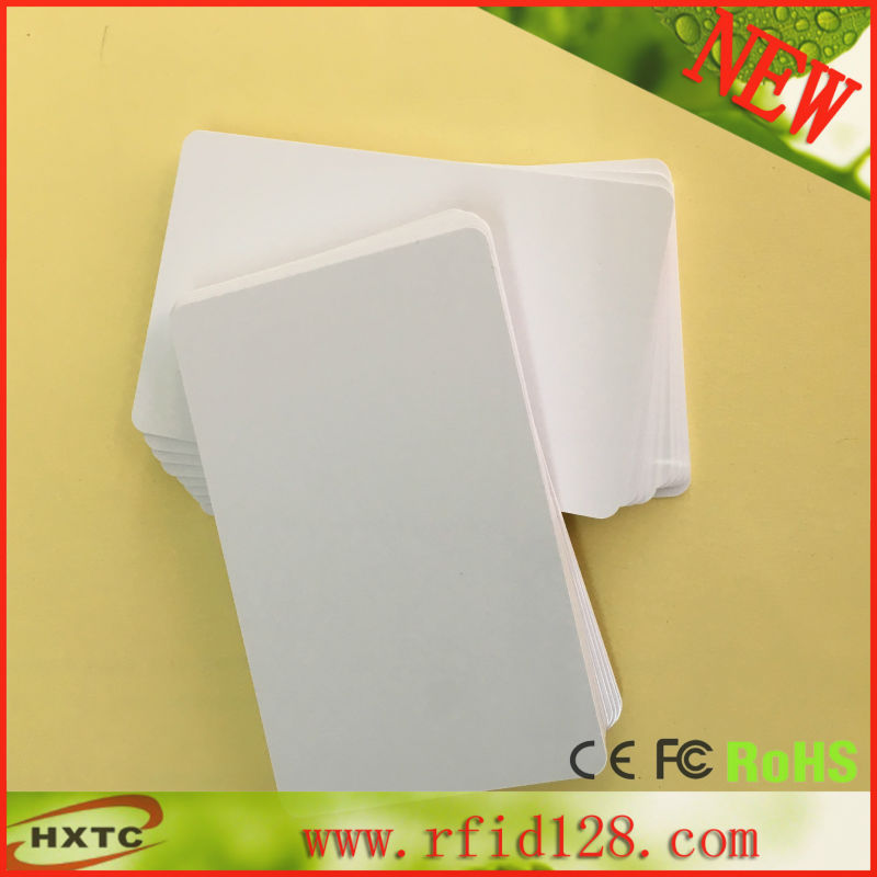 Free Shipping 100PCS/Lot Printable 125KHZ RFID Smart PVC Blank Card With TK4100/EM4100 Chip For E pson/Canon Inkjet Printer