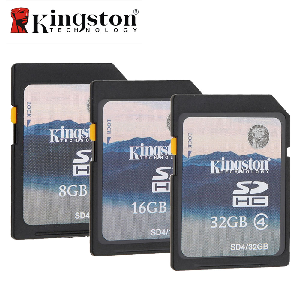 100% Original Kingston SD Card 32GB 16GB 8GB Flash Memory Card HC SDHC Digital Camera SD Memory Card for Camera Camcorder(China (Mainland))