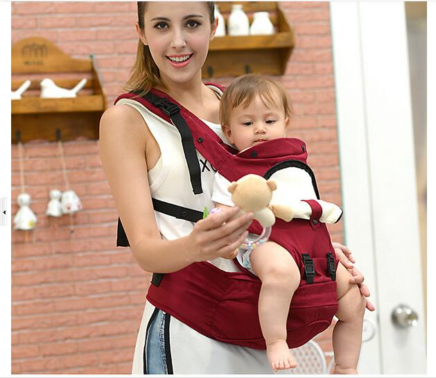 Carrier Baby Infant 0-48Months Cottone Wrap Carriers 360 Breathable Multifunctional Kangaroo Sling Front Facing Bag