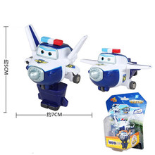 Super asas mini avião abs robô brinquedos figuras de ação super asa transformação jet animação crianças presente das crianças brinquedos(China)