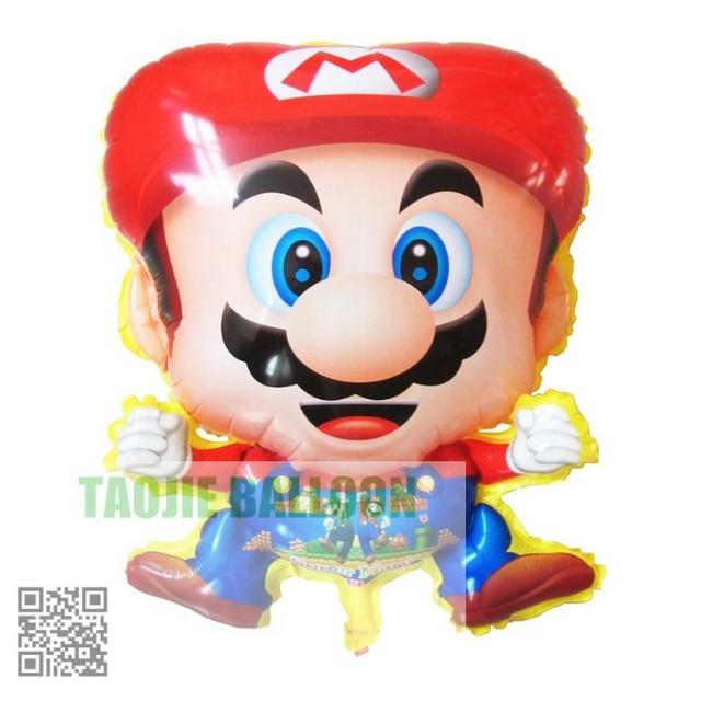 Free shipping  helium balloon foil balloons 50pcs/Lot Mario balloon for kid's toys party decoration