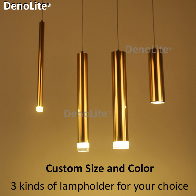 Modern Led Pendant Light for Dining room Bedroom Bar Store Custom Project Art Cylinder Barreled Gold Pendant Lights 3W 5W 7W(China (Mainland))