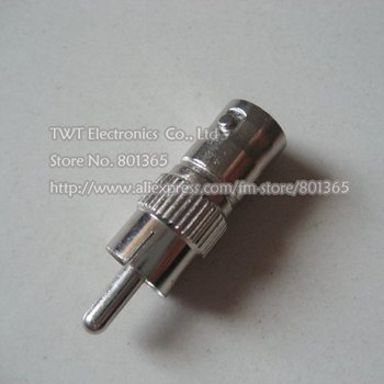 free shipping  BNC female to RCA male Connector Adapter Plug  100qty TWT Electronic Co Ltd  Store No. 801365