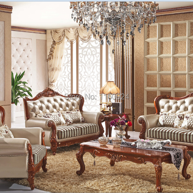High Grade Solid Wood European Style Living Room Furniture