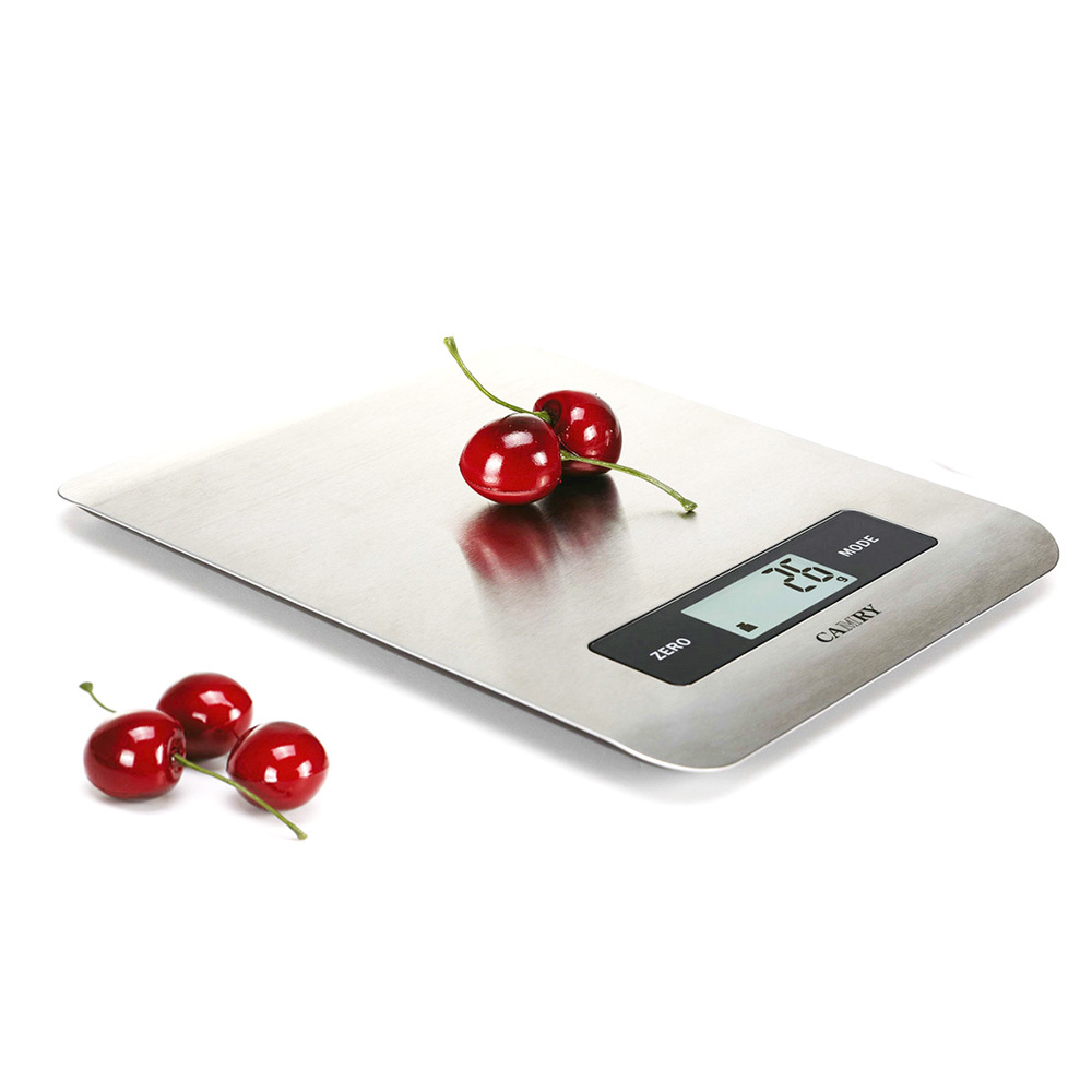 CAMRY Digital Kitchen Scale 5KG Food Scale Cooking Tools with Super slim Stainless Steel Platform Can