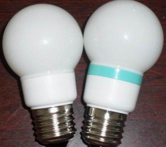 G50 LED Ball Bulb;AC120V/220V input;0.5-1W;E27 base;50*102mm;15pcs led;PVC milky housing;warm white color