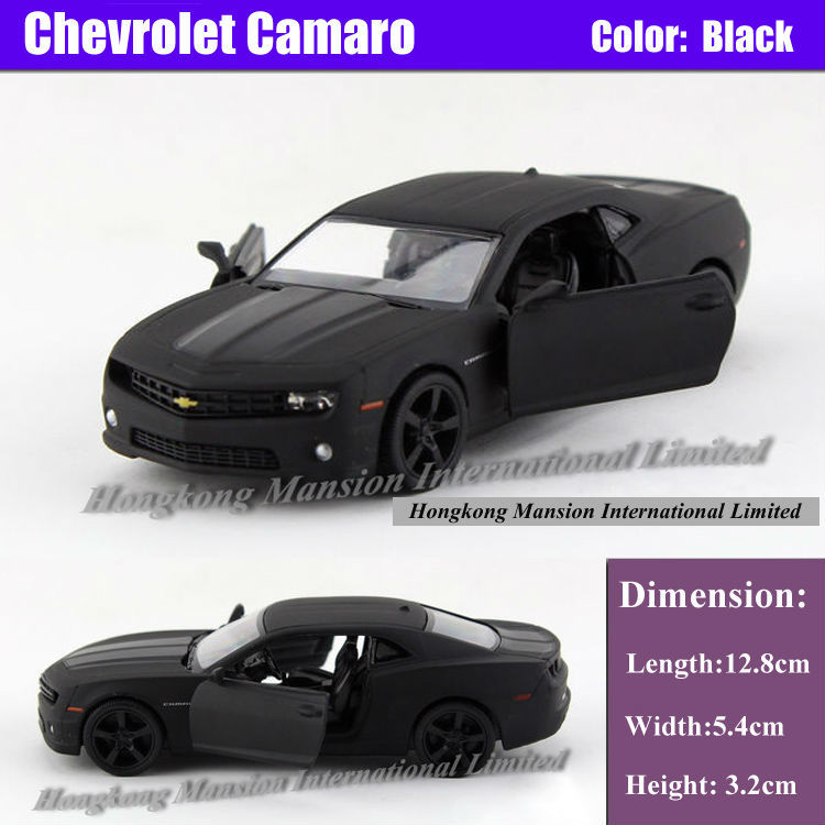 Licensed Diecast Metal 1:36 Scale Car Model For The Chevrolet Camaro Collection Alloy Model Pull Back Toys Car - Matte Black(China (Mainland))