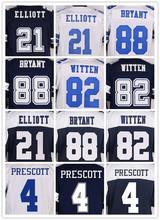 SexeMara Cheap top qulity elite jersey 4 Dak 21 EZEKIEL 88 DEZ 82 JASON 22 EMMITT 9 TONY 12 ROGER BLUE WHITE Stitched jersey(China (Mainland))