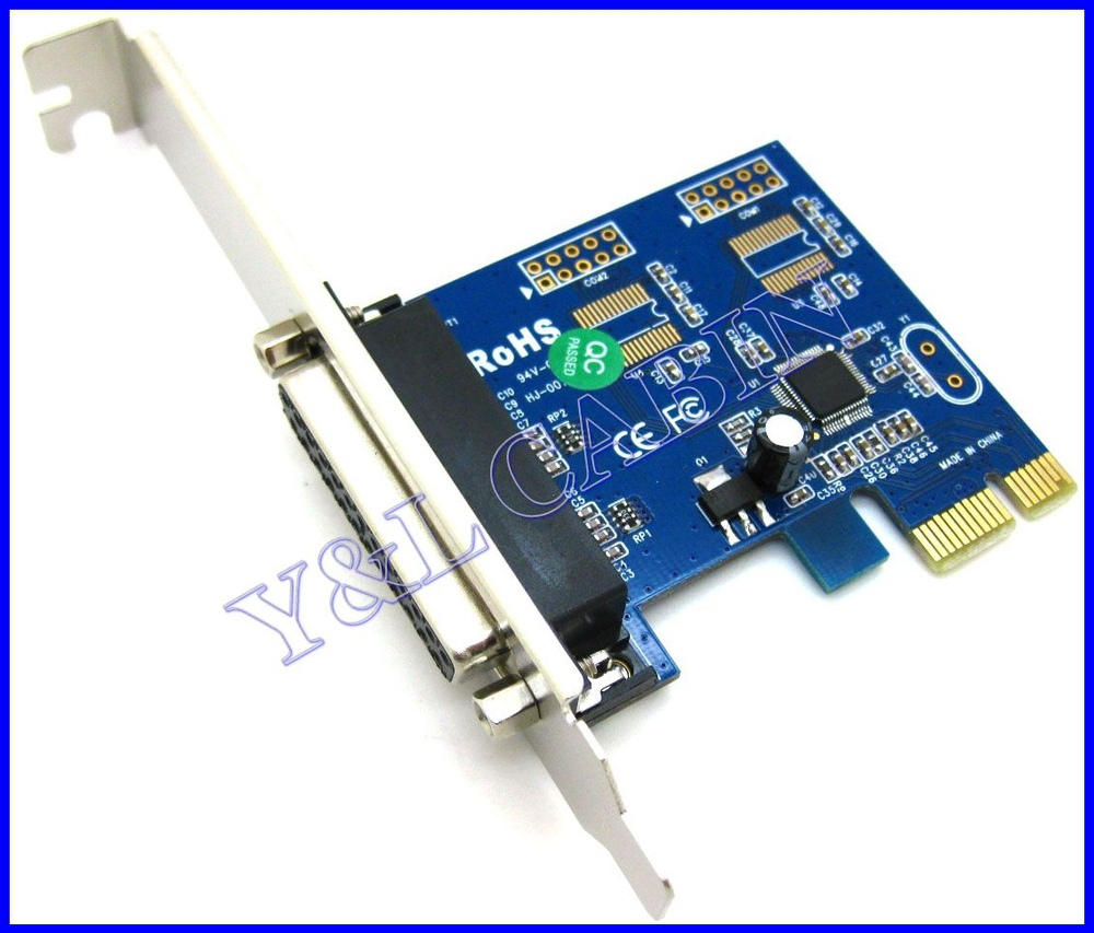 Printer DB25 Parallel Port LPT to PCI-E PCI Express Card Adapter Converter CH382L, Free Shipping, Brand New, Wholesale/Retail(China (Mainland))