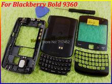 Black New Original Full Housing Cover Case+Keypads+Open Tool For Blackberry Bold 9360 With Free Shipping(China (Mainland))