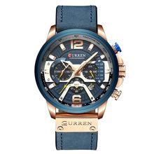 Curren marca de luxo masculino relógios de couro analógico dos esportes do exército militar relógio masculino data quartzo relógio relogio masculino 2019(China)