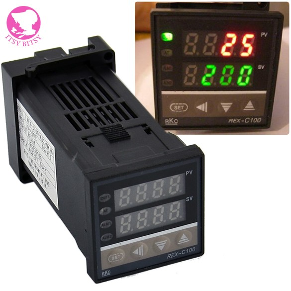 Гаджет  Dual Digital PID Temperature Controller REX-C100 with thermocouple K, Relay Output 0 to 400 Degree None Инструменты