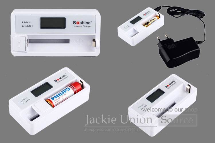 SC-S7 LCD Display Automatic Battery Charger with USB Input for Charger Li-ion 18650 14500 Charger Ni-MH AA AAA Battery(China (Mainland))
