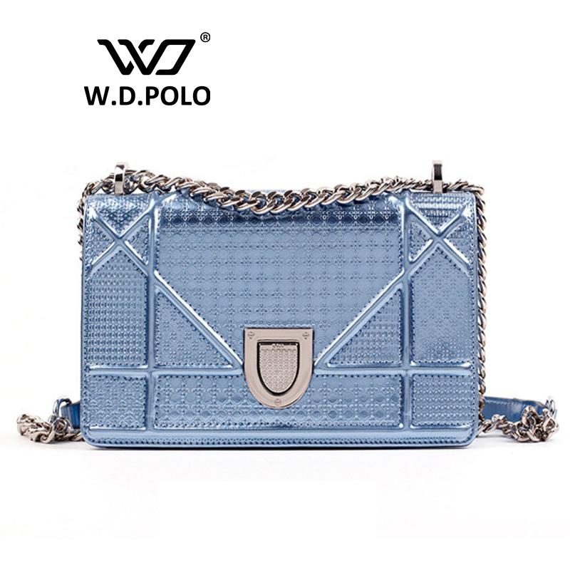 W.D.POLO Genuine leather Trendy handbag rama women bags fashion lady chic necessary hot girl get shoulder chain box bags M1735(China (Mainland))