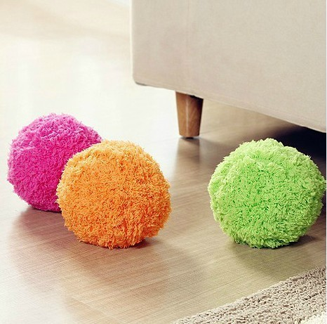 Mocoro Microfiber Robotic Mop Ball Mini Vacuum Cleaner Automatic Floor Sweeper Four Color Mop Ball Pet Toys(China (Mainland))