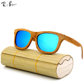 RTBOFY 2017 New Fashion Products Men Women Glass Wood Polarized Sunglasses Retro Wood Lens Wooden Frame