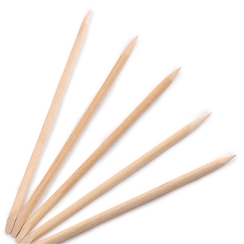 100 pcs nail laranja vara para empurrar a pele morta de unha manicure remover frete grátis