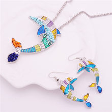 Mieehoo 100 Newest European and American style dripping oil crab pearl necklace earrings set with a variety of stylish suit(China)