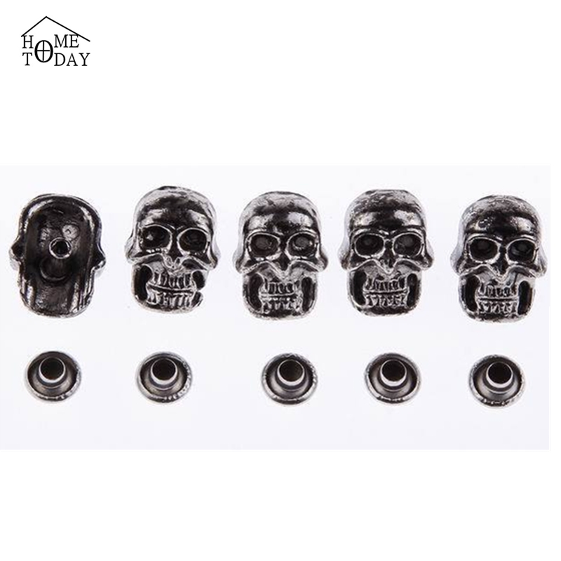 100pcs DIY Skull Heads Punk Decorative Rivets Studs and Spikes for Rock Clothing Handcraft Accessory on Clothes Decoration New(China (Mainland))