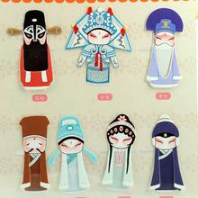 7 Pcs / Pack Chinese Traditional Peking Opera Mini Bookmark Paper Clip Memo Clip(China (Mainland))