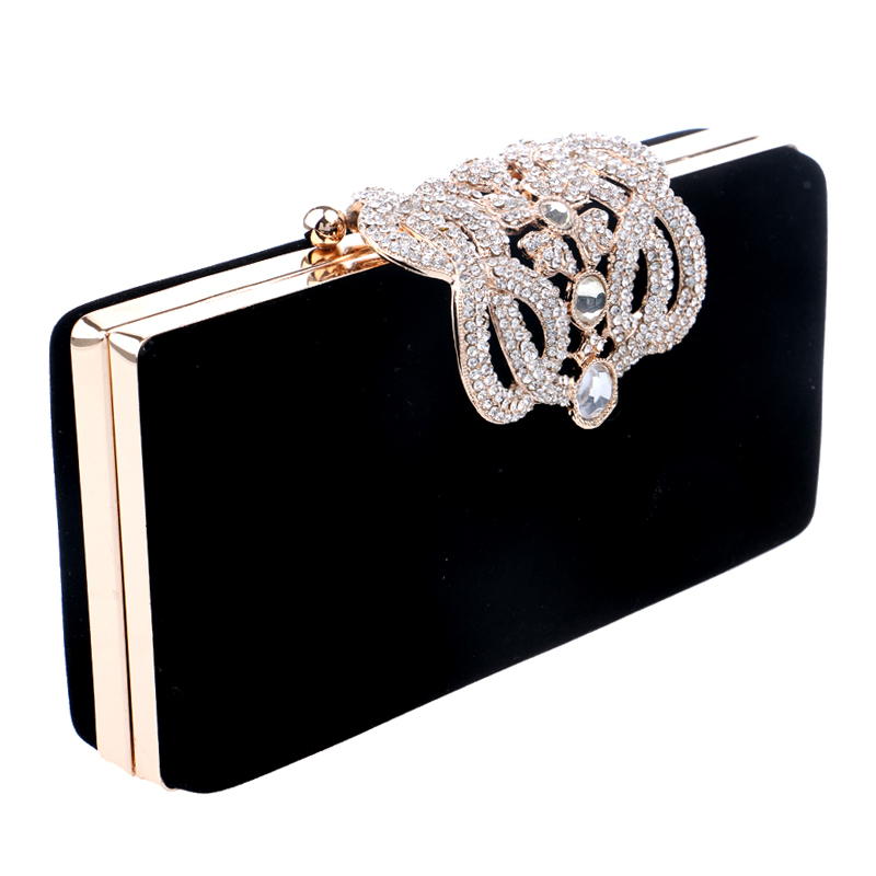 HOT Crown rhinestones evening bags purse clutch evening bags shoulder bag for wedding(China (Mainland))
