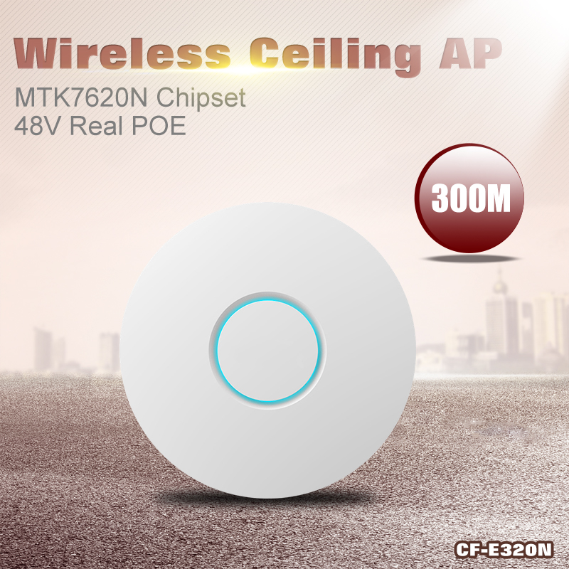 COMFAST CF-E320N 300mbps WiFi Ceiling Wireless AP 802.11b/g/n ATHEROS MTK7620 Indoor AP48V Real POE 16 Flash Access Point CPE <br><br>Aliexpress