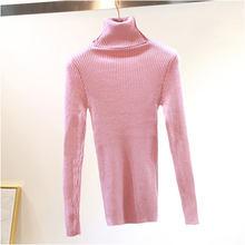 반짝이 여성 겨울 스웨터 반짝 이는 가을 터틀넥 풀오버 레이디 스웨터 기본 여성 블랙 니트 스웨터 긴 소매(China)