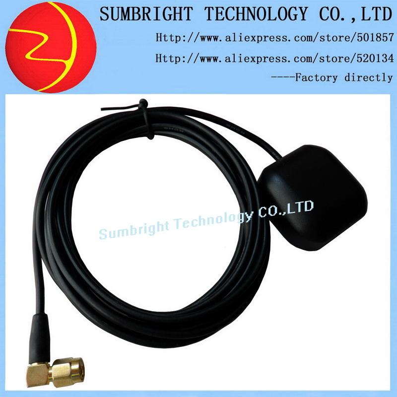 SB-CA116-SMA-5M 80pcs*Mini car 1575.42MHz Magnetic Active External Waterproof Marine Active electronic gain GPS antenna SMA(Hong Kong)