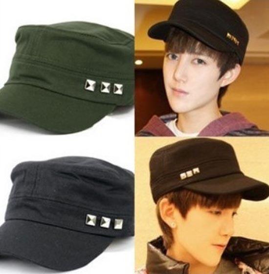 Special Cheap Classic 10pcs COOLRivets Army Sports Cap Women Fashion Visors Ladies Military Hats Fashion Mens Hat Brim Caps S36