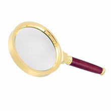15X High Magnification Magnifying Glass with Rosewood Hand Shank 60mm B2C Shop