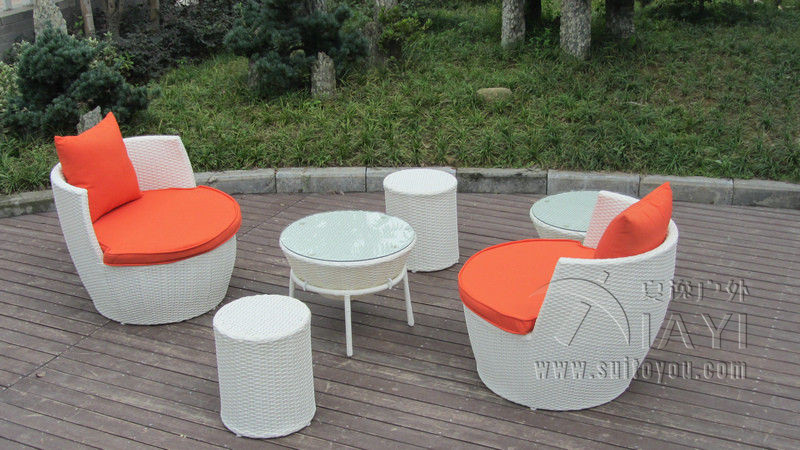 6 pcs UV Resistant Fashion Obelisk Chair With Round Tea / Coffee Table transport by sea<br><br>Aliexpress