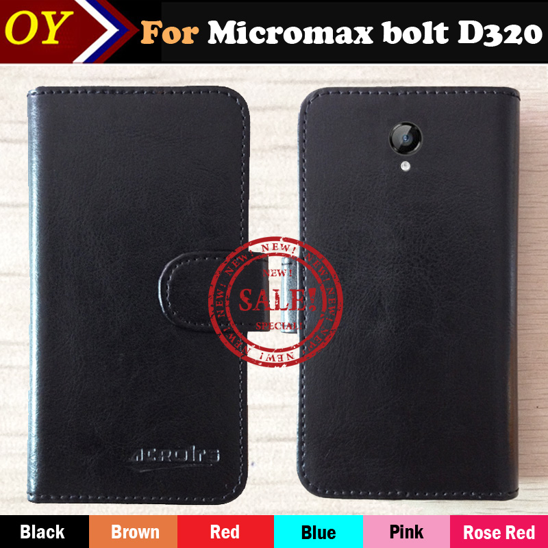 Micromax Bolt D320 Case 6 Colors Fashion Luxury Protective Flip Leather Case Phone Slip-resistant Cover Wallet Style(China (Mainland))