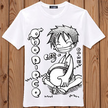 One Piece T-shirt New Japan Anime Tees Summer Student Animated Cartoon clothes Luffy Costume Men Women Cotton T Shirt Tops