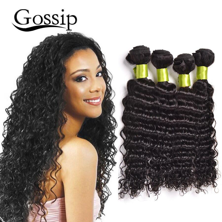 7A Mogonlian Virgin Hair Deep Wave 4 Bundles Curly Human Weave Unprocessed - Gossip Products-100% Store store
