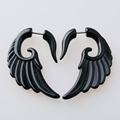 1piece Fashion Rock Spiral men earrings Summer style pierced Stainless Steel Jewelry black Stud Earring for women animal brincos