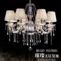 Ecolight Crystal Chandelier light with Silver shade 8 Light Chrome Crystal lighting bed room dinning room