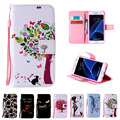 Painting Flip Leather Case For Samsung Galaxy J1 J2 J3 J5 J7 S4 S5 S6 S7