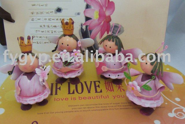Wholesale iron material fairy girl,wedding gifts and valentine day gifts 4pcs/lot competitive price products