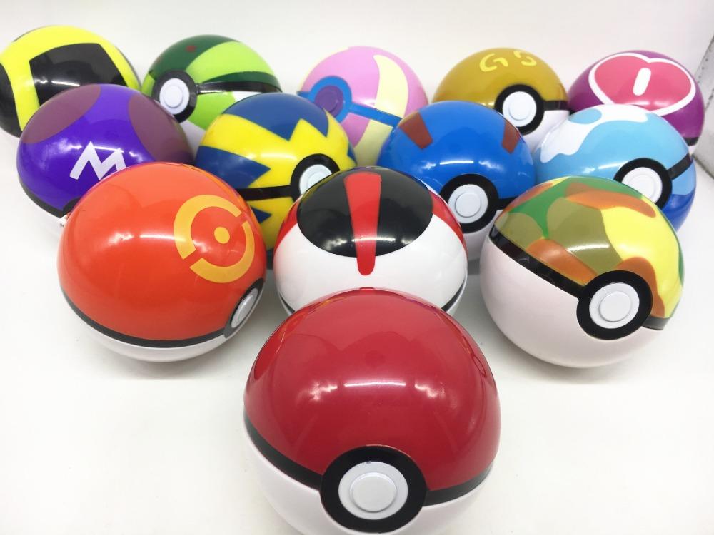 1PC 13 Colors Cute Pokeball Com Figuras Pokemon Abs Avec Figurine Pikachu Poke Ball Classic Anime Super Master Pokemon Kids Toys(China (Mainland))