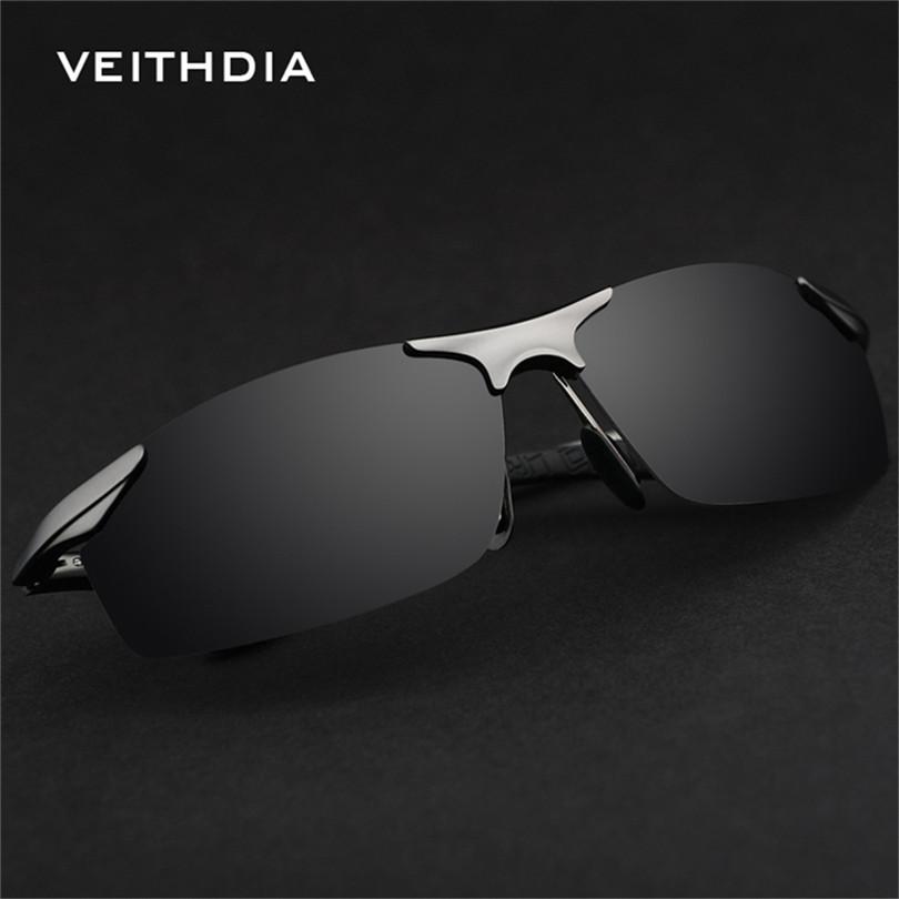 VEITHDIA 6529 Magnesium Aluminum Polarized Sunglasses Men Sports Sun Glasses Driving Mirror Goggle Eyewear Male Accessories