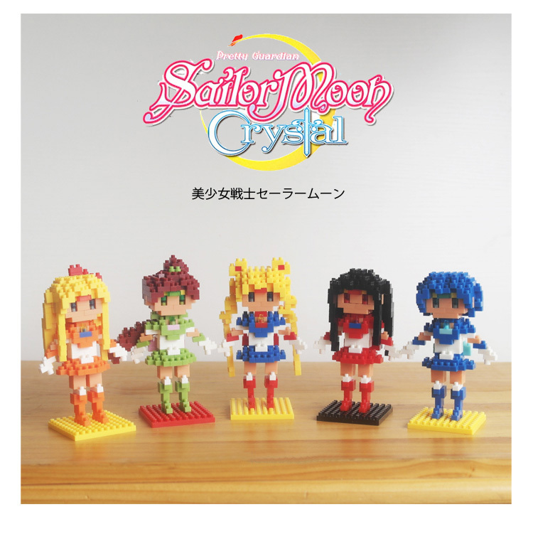Cartoon Sailor Moon Mercury Mars Jupiter Venus Blocks Minifigure Diamond Building Bricks Educational Toys Gift for Girls<br><br>Aliexpress