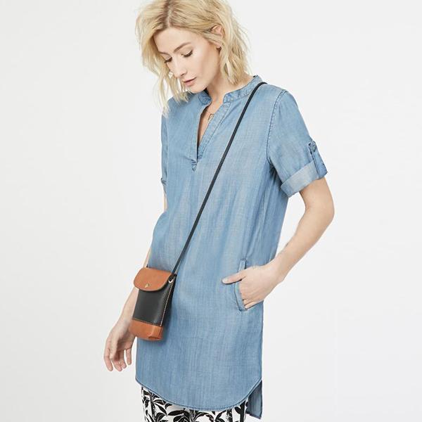 Female denim shirt womens clothing v neck blouses long shirts short ...