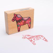 Deco Vintage Wooden Pony Stamp Decoration Stamp Funny Diy Stamp