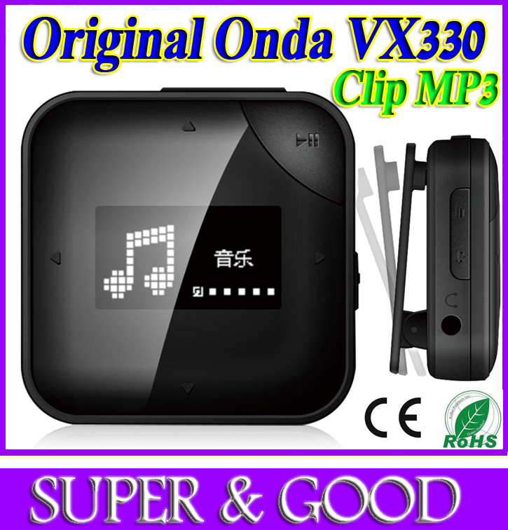 New 2015 Mini Clip flash MP3 Music Player With 4GB Storage and FM Onda VX330 free music downloads mp3 player(China (Mainland))