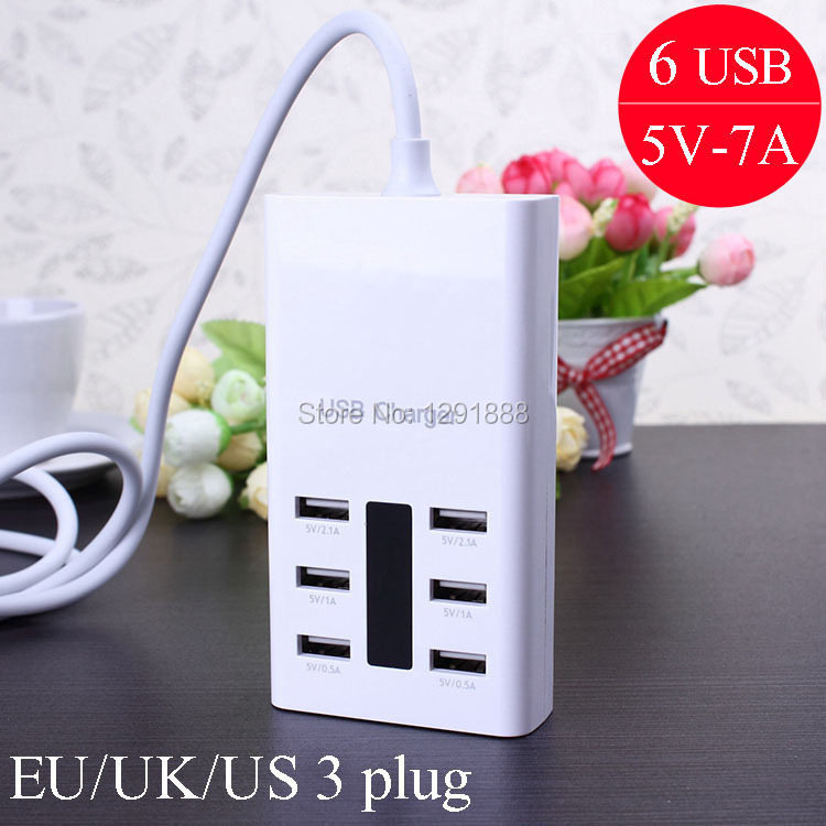 New portable multi USB wall charger for iPhone 6 5s samsung s4 note3 mobile phone travel cargador AC power Adapter for EU UK US(China (Mainland))