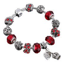 2016 Sizzling Attraction bracelets and attraction bracelets 925 Crown Pendant Crystal Ball Friendship Bracelet Woman Style Bracelet